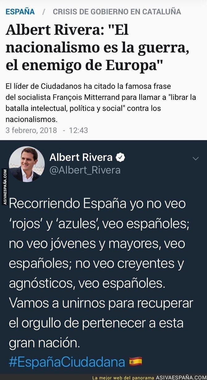 87167 - El nacionalismo es el enemigo, según Albert Rivera menos cuando él lo practica