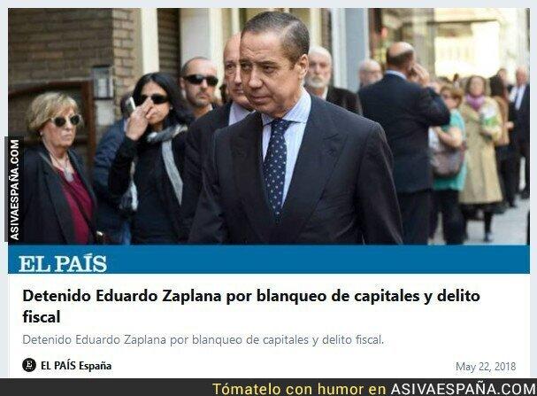 87184 - Detenido Eduardo Zaplana por blanqueo de capitales y cohecho