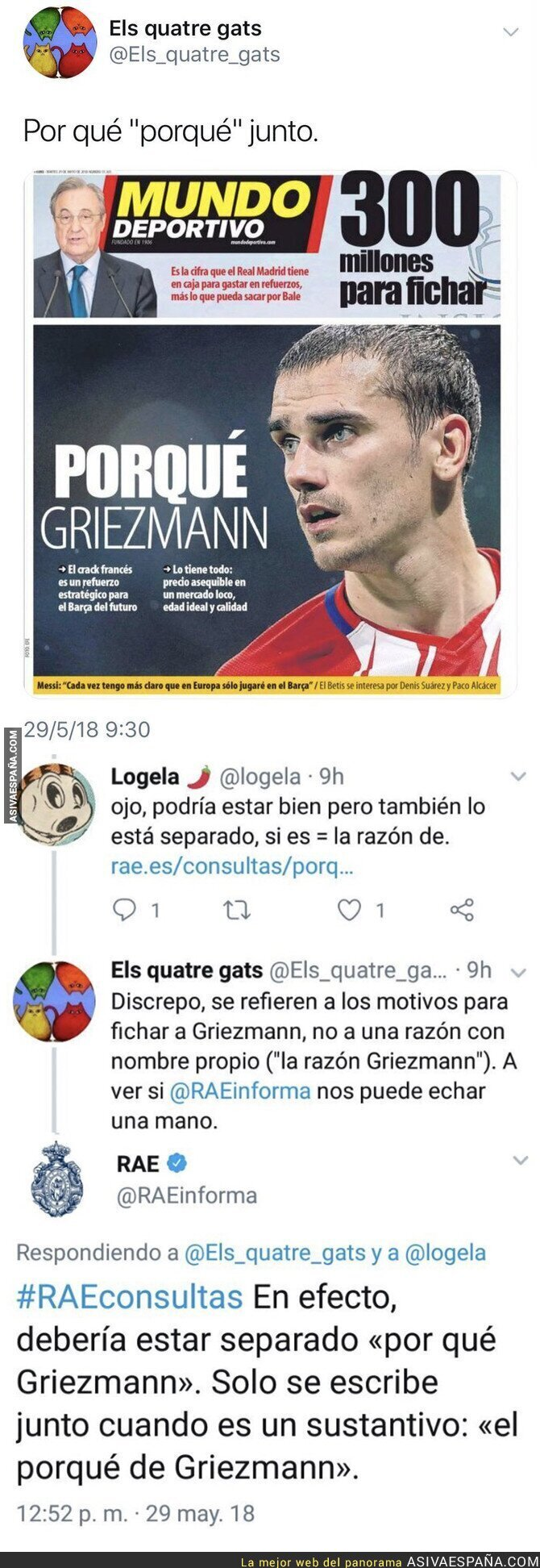 87560 - La RAE deja en evidencia a 'El Mundo Deportivo' con este garrafal error en su portada