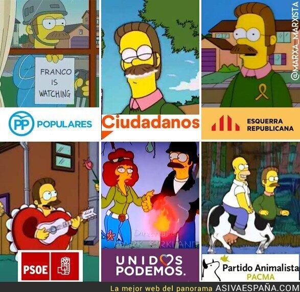 87600 - Ned Flanders en los partidos políticos