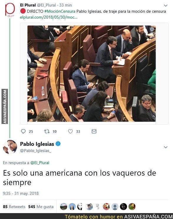 87728 - Pablo Iglesias respondiendo al periodismo basura de El Plural