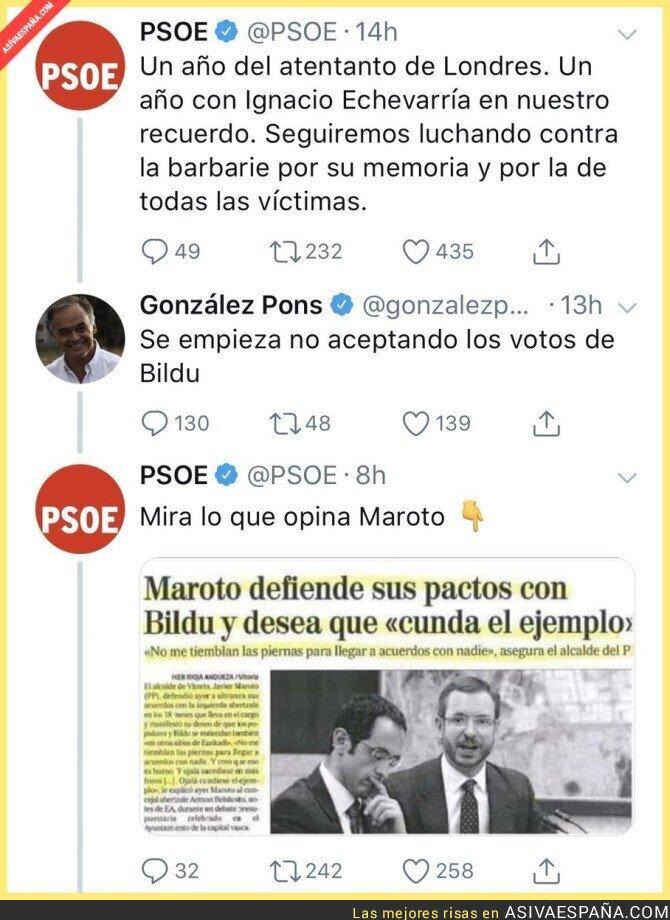 87889 - González Pons ataca al PSOE por pactar con Bildu y le sale muy mal la jugada