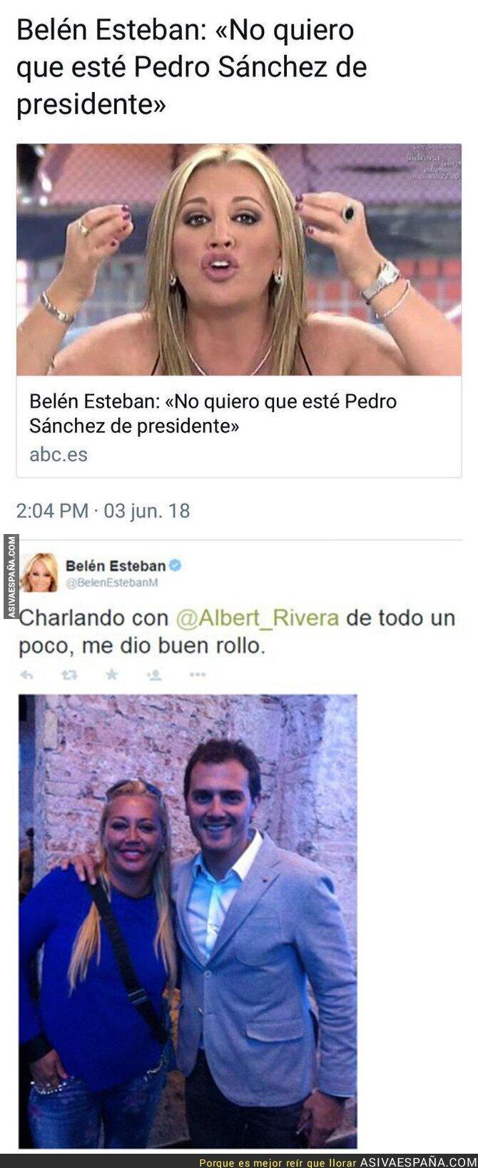 87902 - Dos noticias juntas sobre Belén Esteban y Albert Rivera se entienden mejor