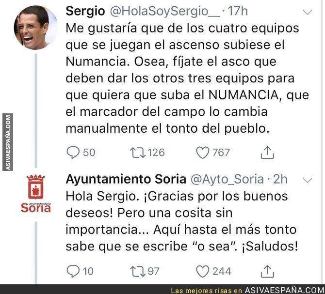 87989 - Intenta reírse de Soria y el Ayuntamiento le pega una respuesta que sale escaldado
