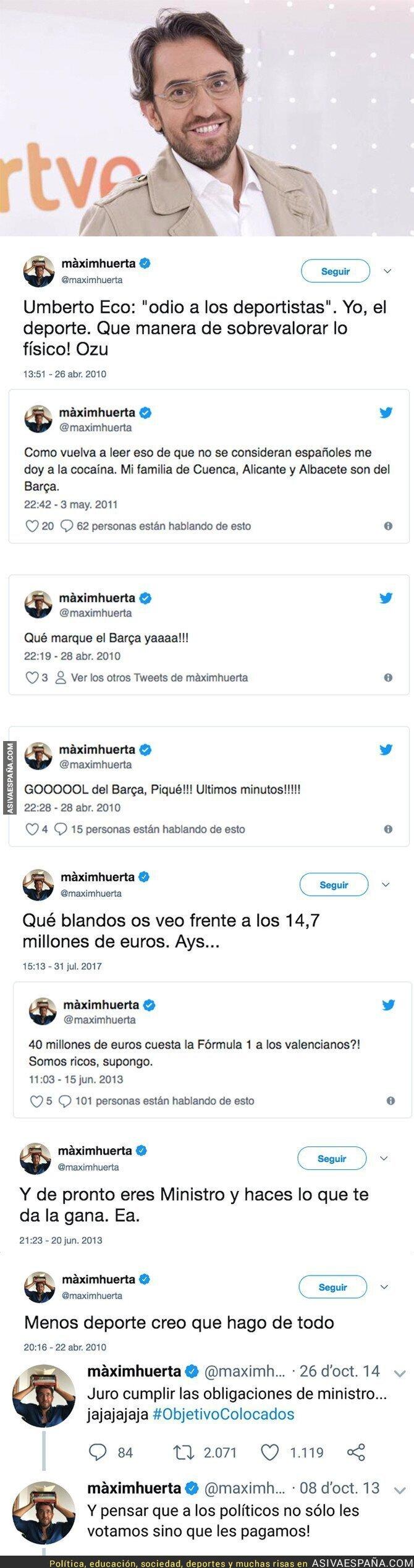 88033 - Los polémicos tuits de Maxim Huerta antes de ser ministro de Cultura y Deporte