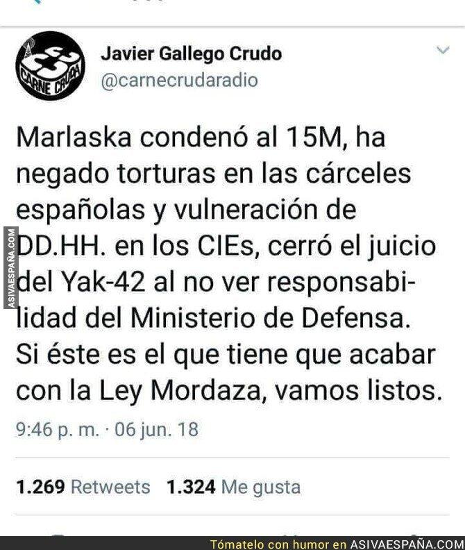 88071 - Mal asunto con Marlaska en el Gobierno