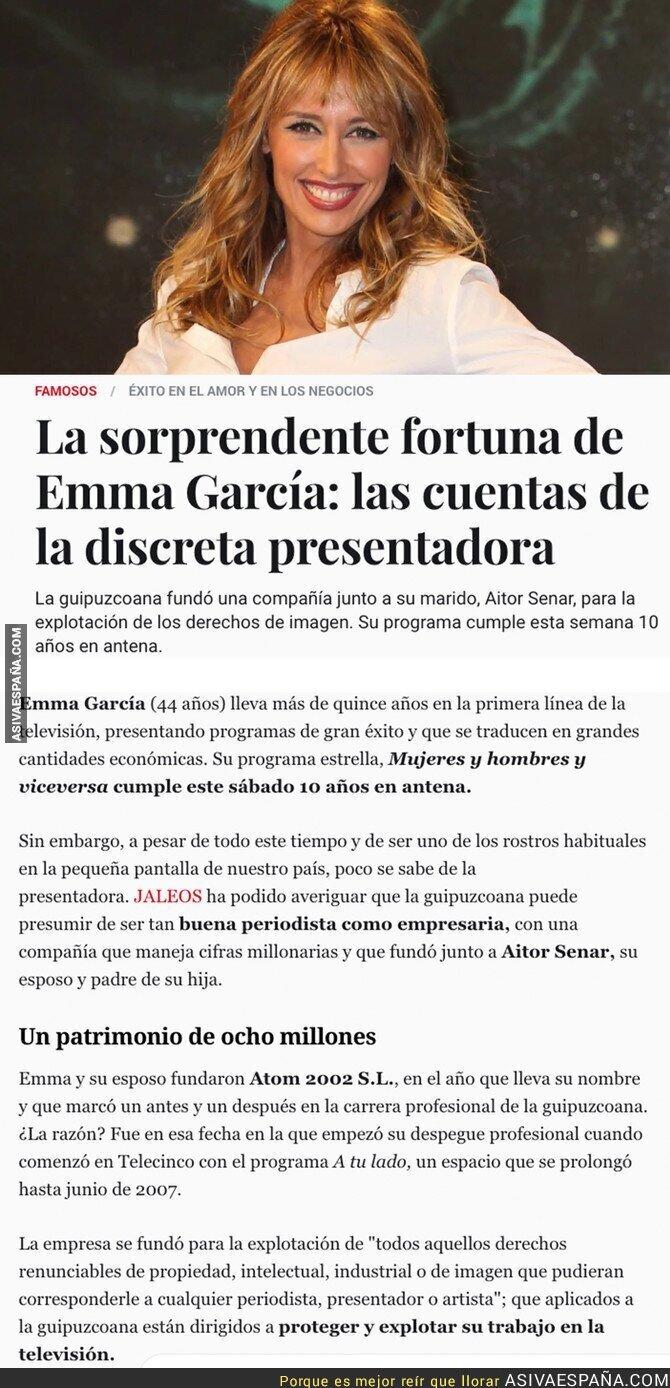 88105 - Este es el dinero que acumula Emma Garcia tras tantos años de trabajo en Telecinco