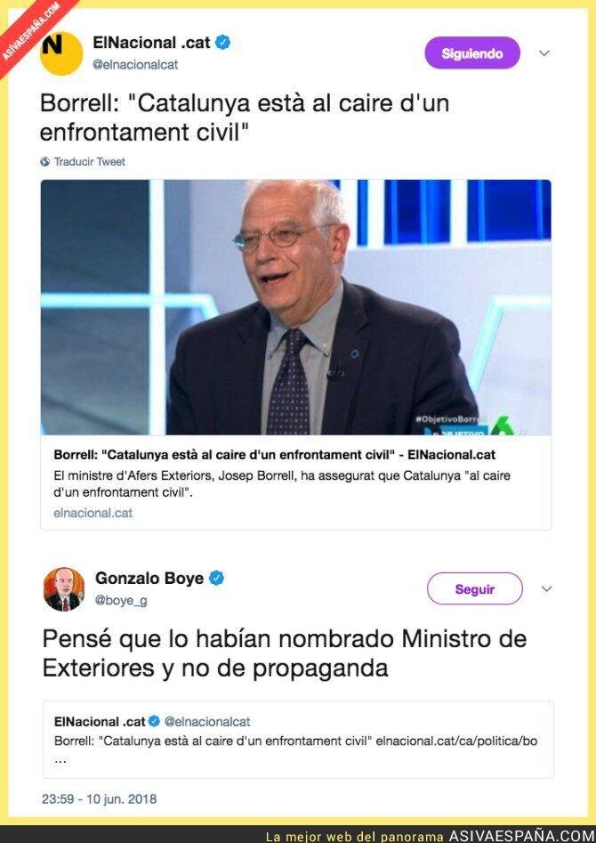 88185 - Poco ha tardado Borrell en sacar su lado radical de Ciudadanos