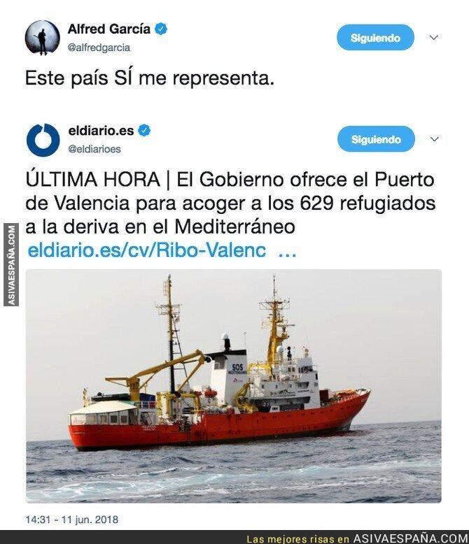 88217 - España acogerá a los 629 refugiados que estaban abandonados por Italia y la Unión Europea