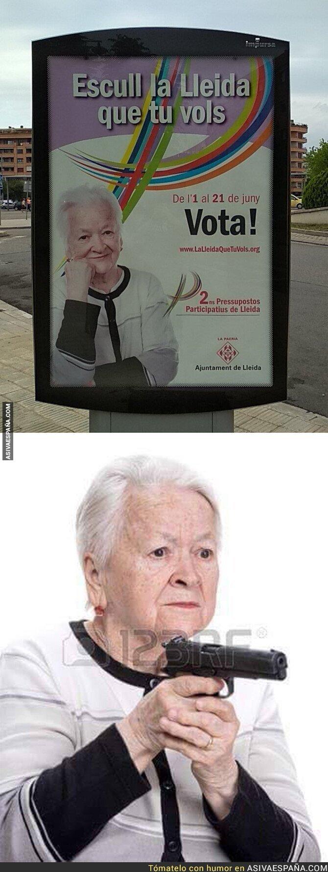 88252 - En Lleida ya usan una mujer meme para sus anuncios