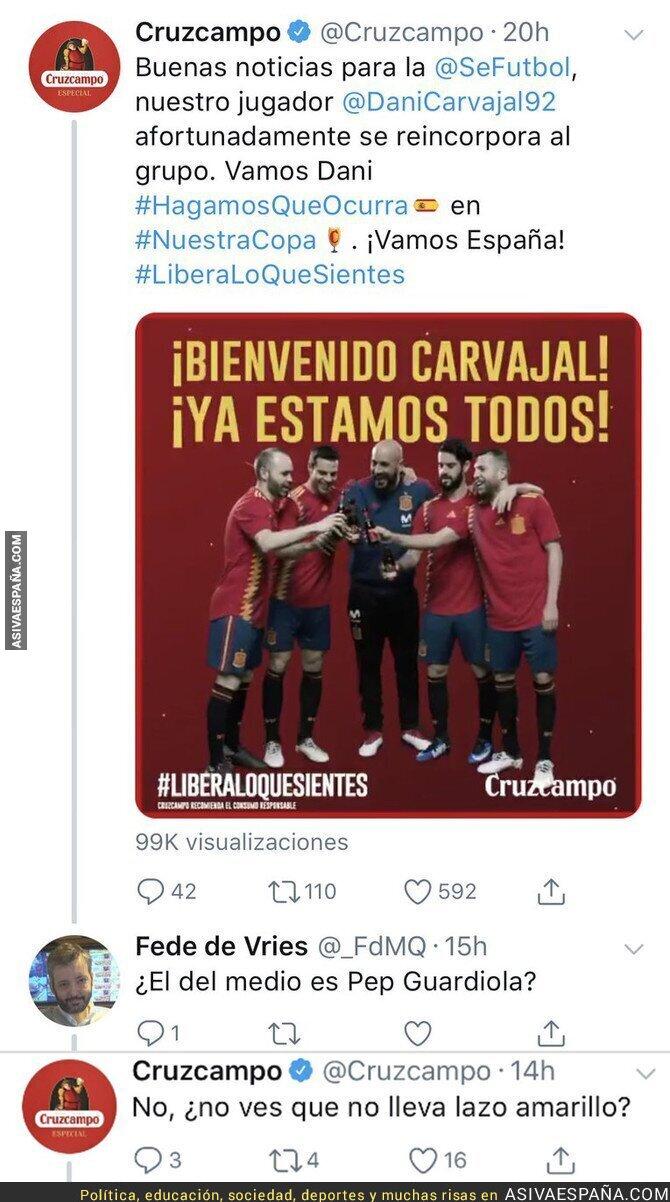 88361 - Cruzcampo le da la clave a un tuitero para saber si es Guardiola o no