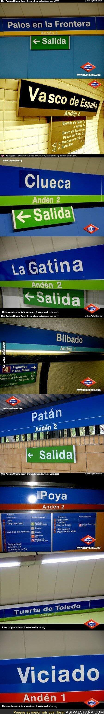 88412 - Paradas de metro en Madrid que han sido troleadas