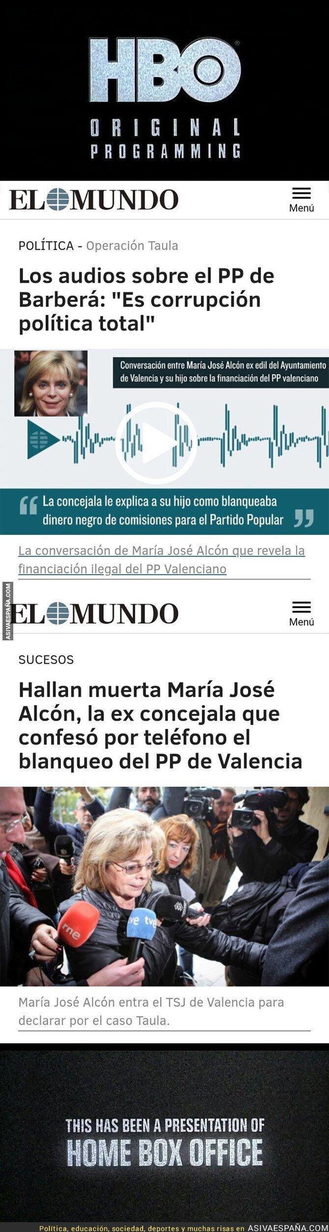 88457 - Maria José Alcón entra en la lista de muertes muy sospechosas relacionadas con la corrupción del PP