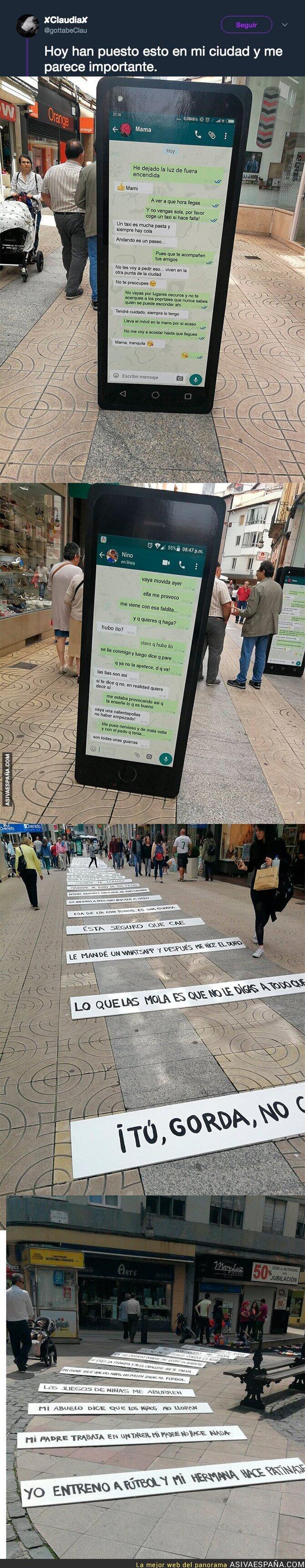 88472 - Un gran mensaje para concienciar contra el acoso a mujeres