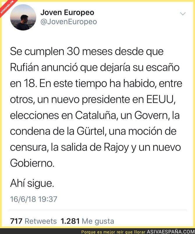 88534 - Gabriel Rufián sigue sin irse del Congreso