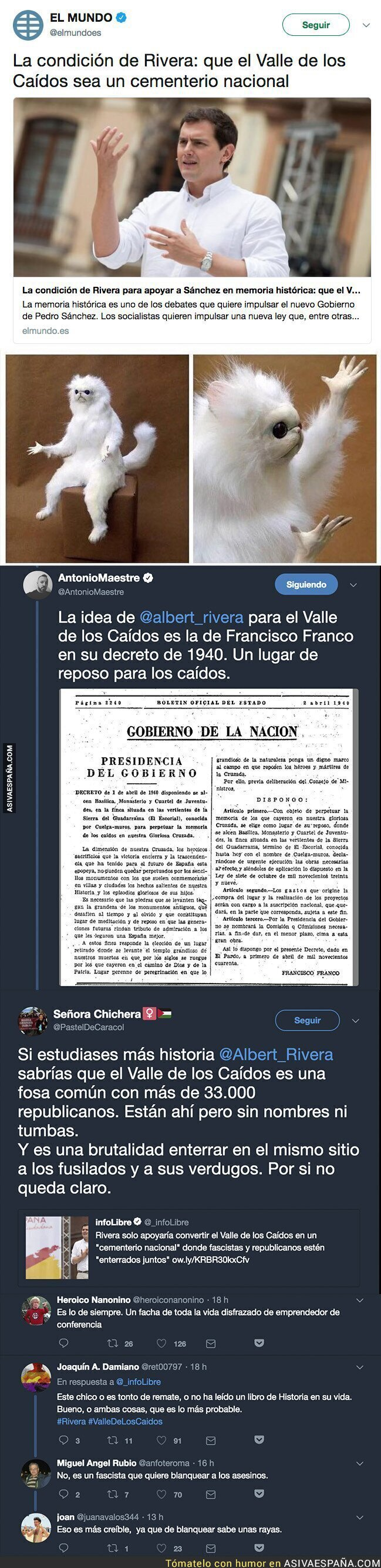 88557 - La solución de Albert Rivera para el Valle de los Caídos que está indignando a mucha gente