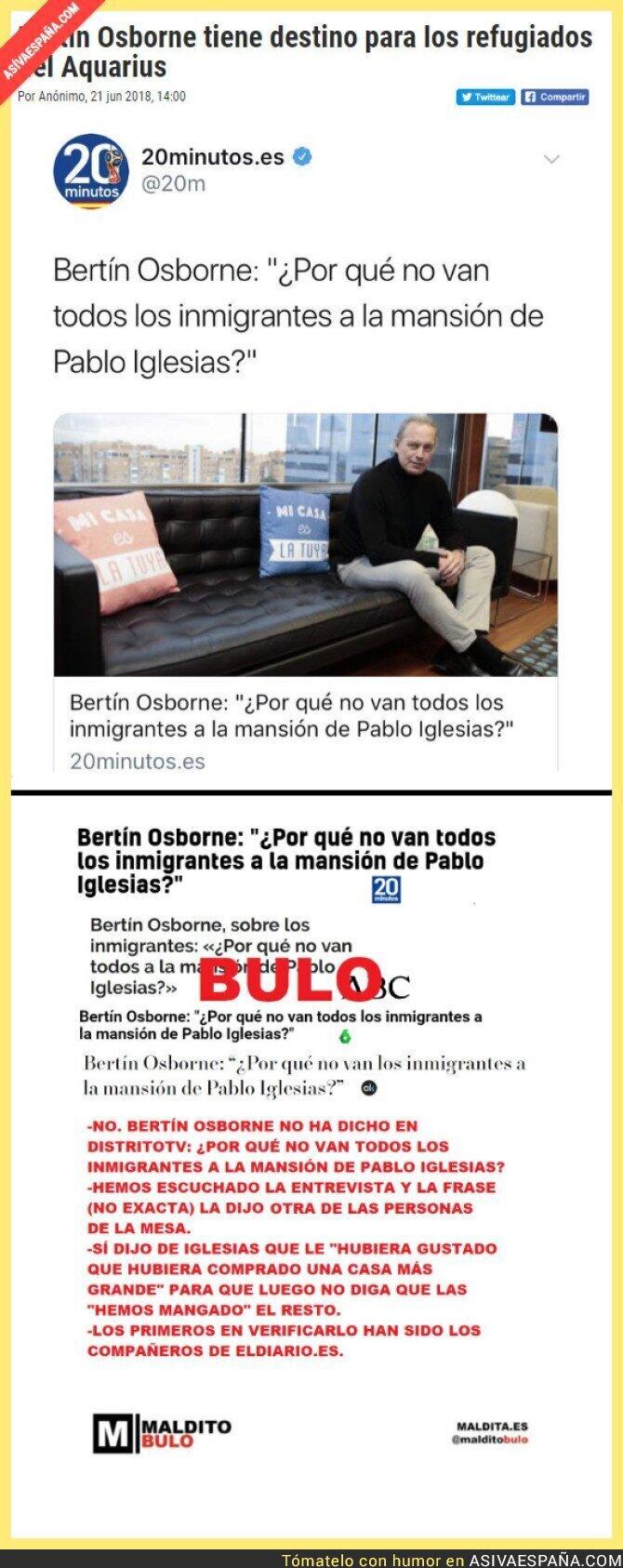 88727 - Desmontando las fake news acerca de Bertín Osborne y Pablo Iglesias