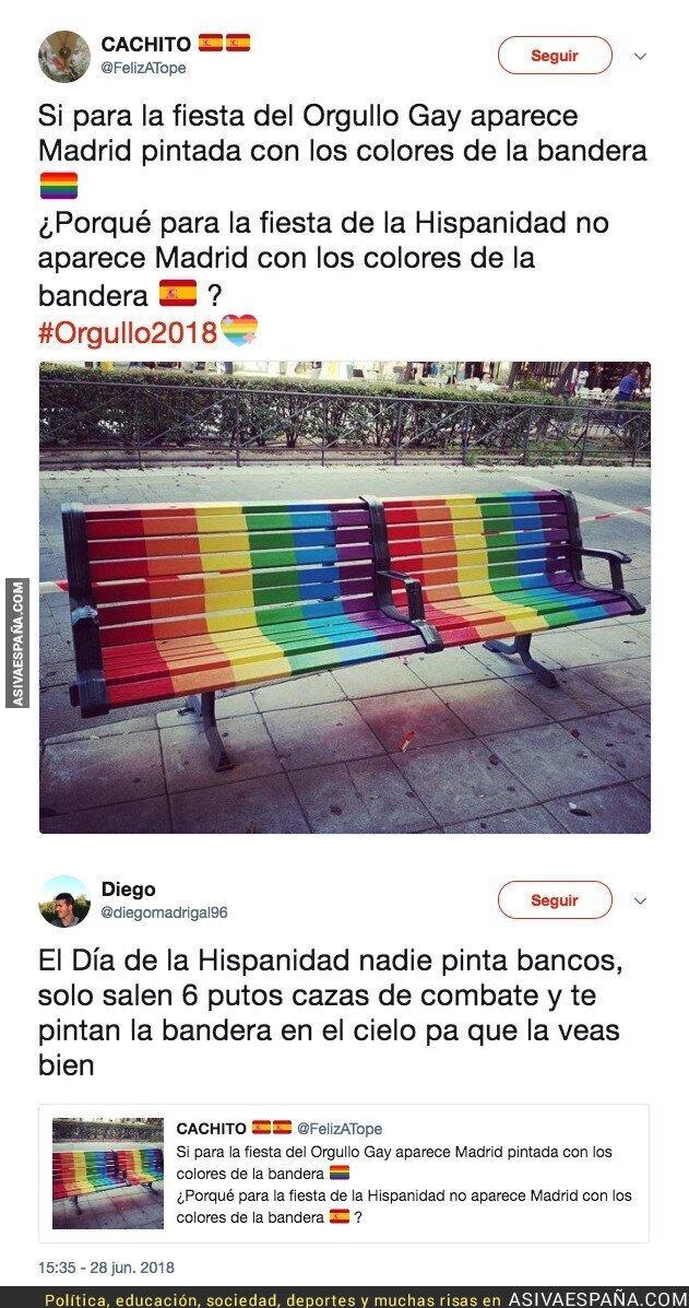89009 - Pregunta las diferencias entre el Orgullo Gay y el Día de la Hispanidad y sale trasquilado