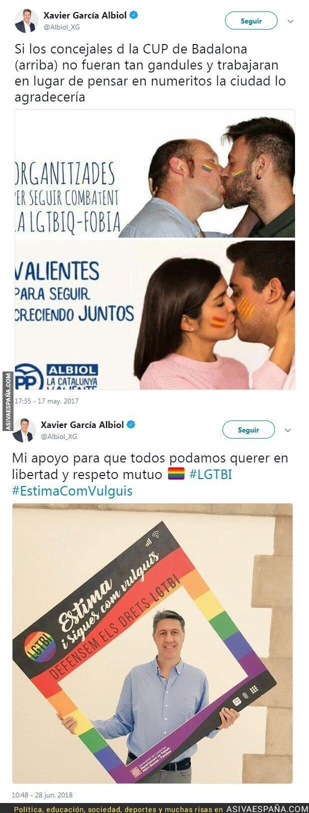 89012 - Este es el repugnante doble rasero de Xavier García Albiol con el movimiento LGTBI