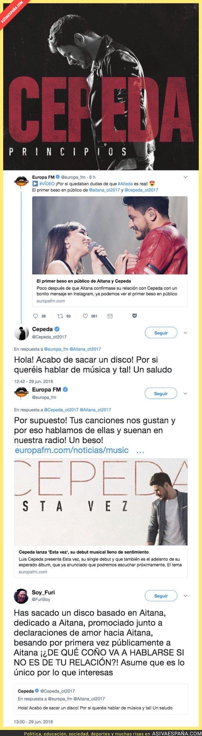 89013 - Luis Cepeda le da un tirón de orejas a Europa FM por publicar esta noticia sobre Aitana