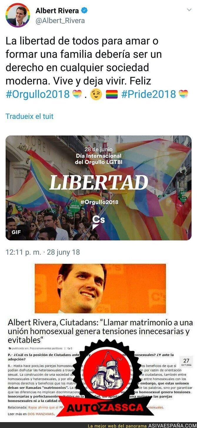 89104 - El cambio de discurso radical de Albert Rivera acerca del matrimonio homosexual