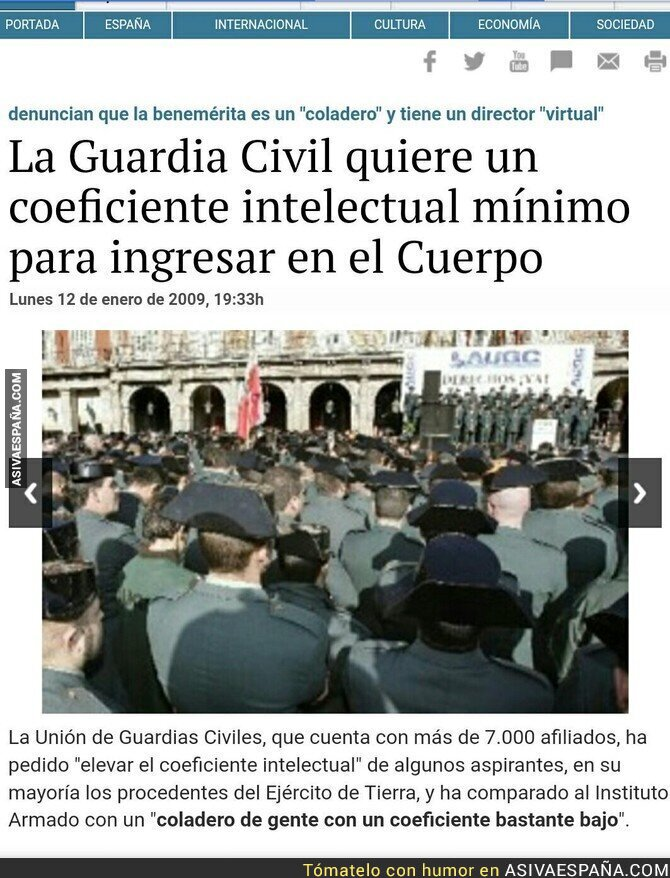 89154 - La Guardia Civil anuncia su disolución