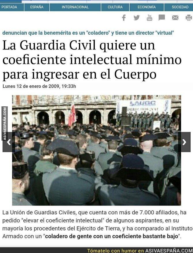 89154 - La Guardia Civil anuncia su disolución