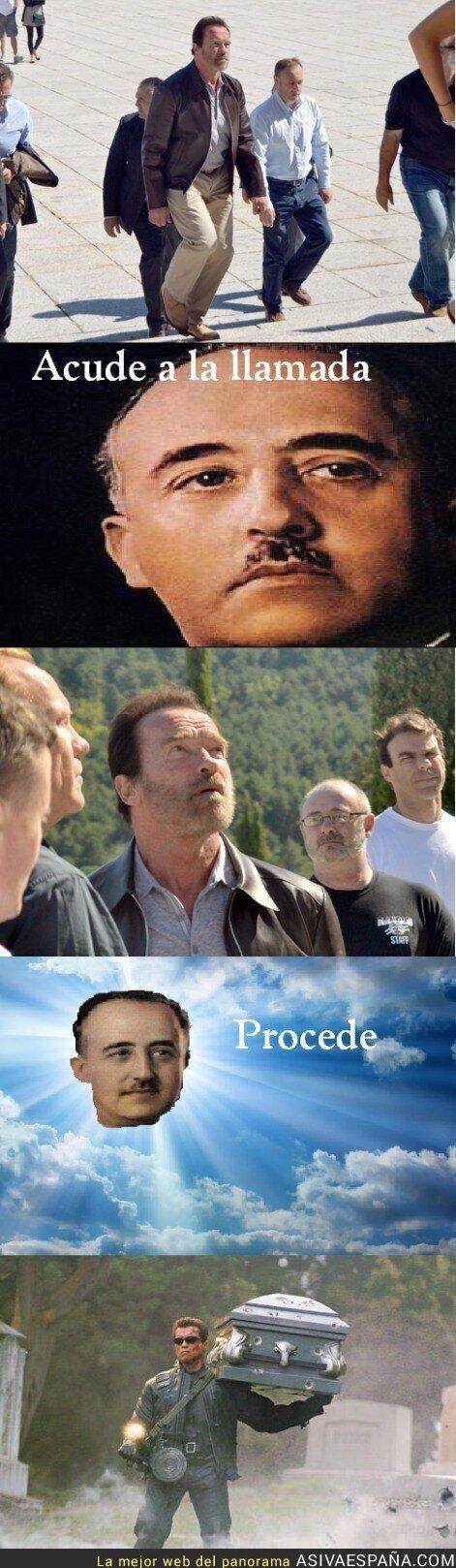 89205 - Schwarzenegger volverá al Valle de los Caídos para salvar al Caudillo