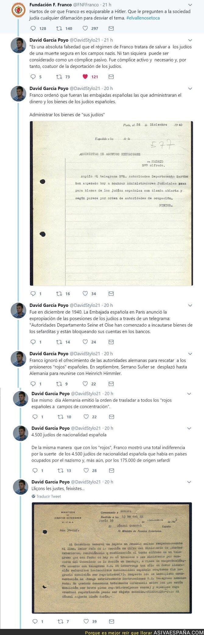 89232 - Desmintiendo el bulo de que Franco ayudó a salvar a los judios