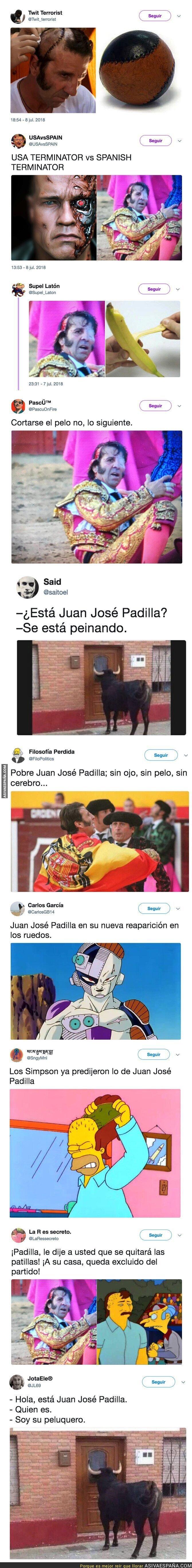 89379 - Cachondeo absoluto con Juan José Padilla tras ser arrollado por un toro y arrancarle el cuero cabelludo