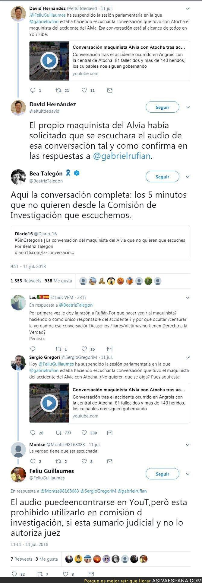 89523 - El audio del maquinista del AVE que no han querido reproducir por el veto de PP, PSOE y Ciudadanos