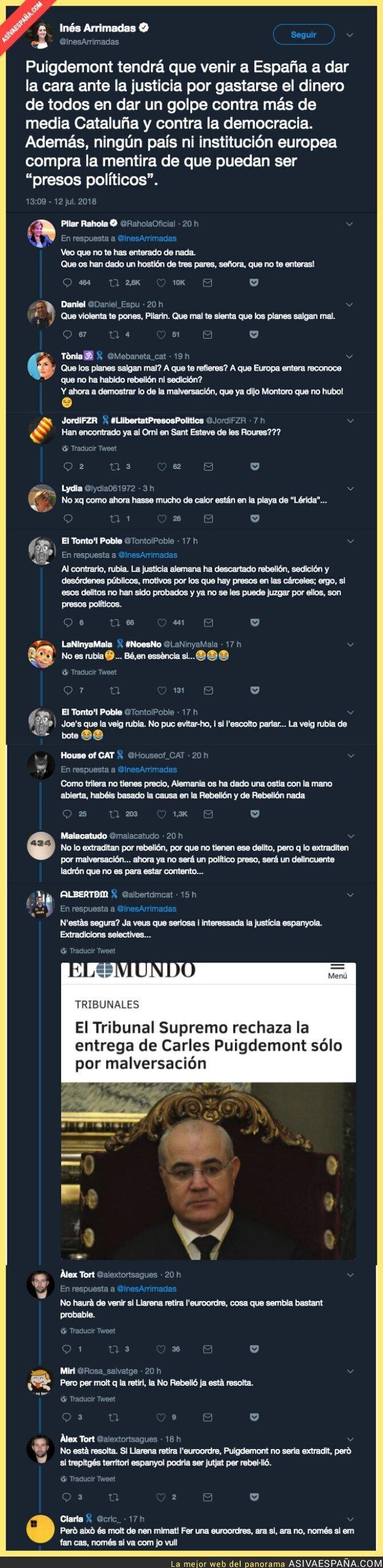 89538 - La justicia alemana le da una h*stia a España con Puigdemont e Inés Arrimadas lo remata con este análisis de la sentencia