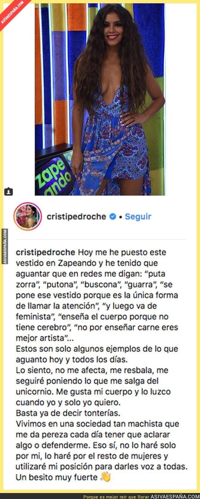 89581 - Los tremendos insultos que ha recibido Cristina Pedroche por llevar este vestido en el programa Zapeando