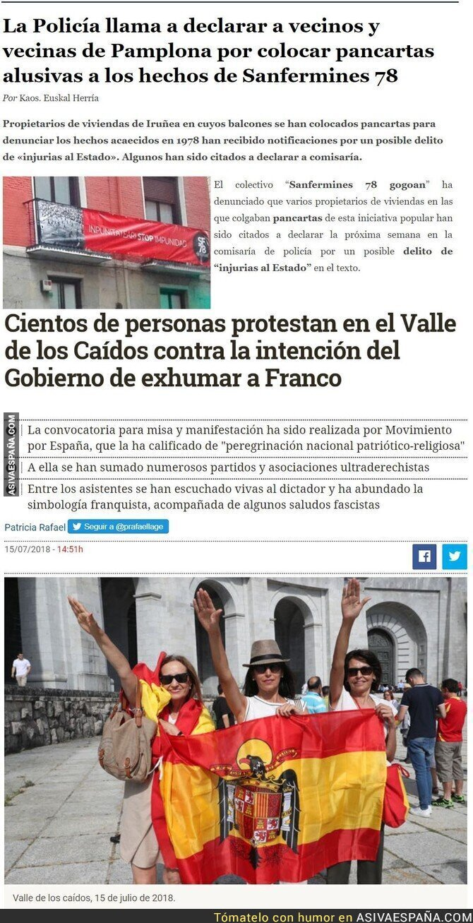 89665 - Dos noticias juntas, para que se entienda mejor España y la transición