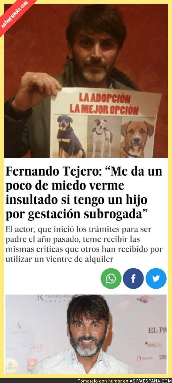 89693 - El doble rasero repugnante de Fernando Tejero a la hora de adoptar o comprar