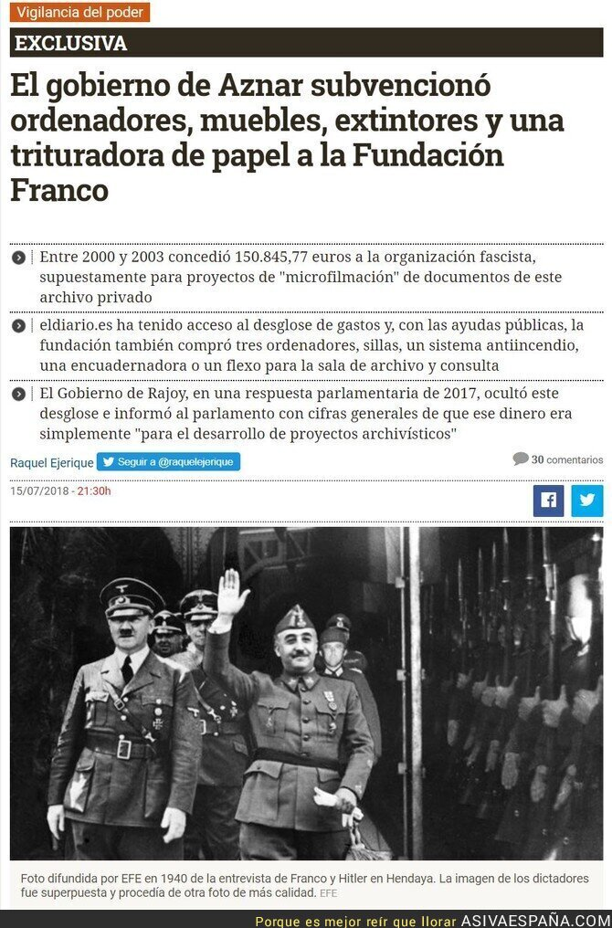 89695 - El PP financiando a la fundación Francisco Franco...