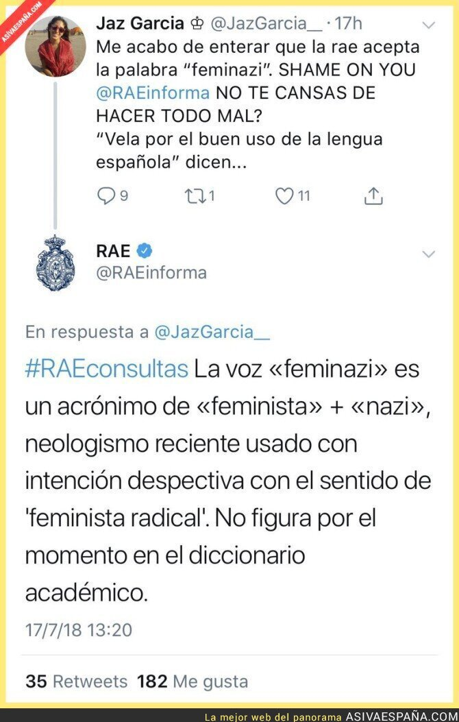 89786 - La respuesta de la RAE ante la palabra