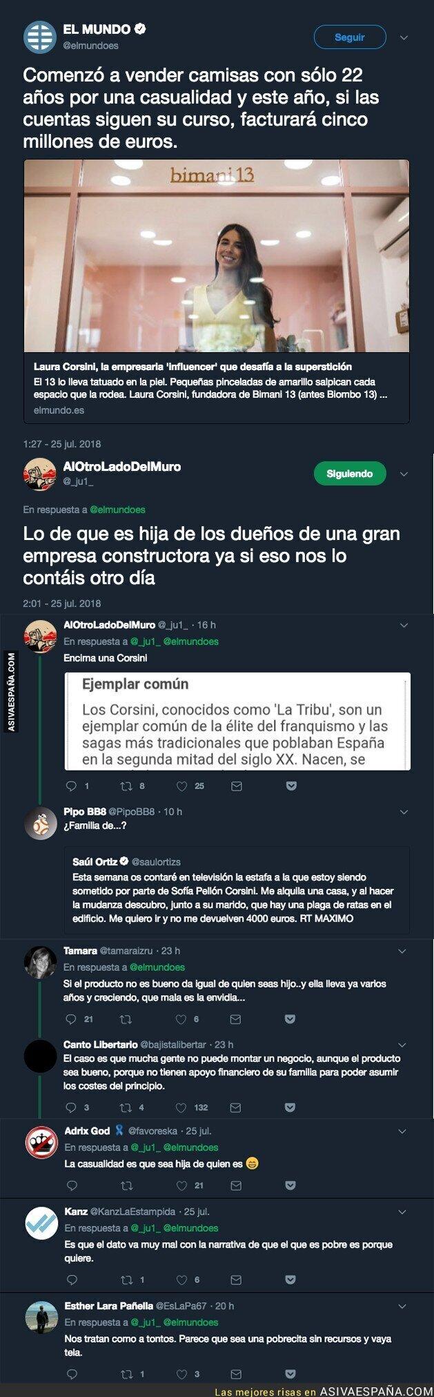 90100 - El diario 'El Mundo' pone como ejemplo a esta empresaria 'influencer' y Twitter descubre la verdadera identidad de esta persona