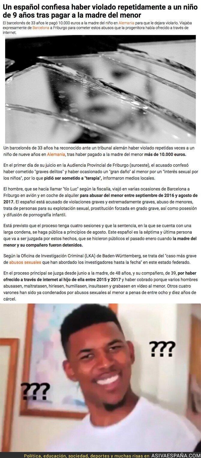 90147 - El caso del barcelonés que ha puesto los pelos de punta a toda Alemania por haber violado a un niño de 9 años