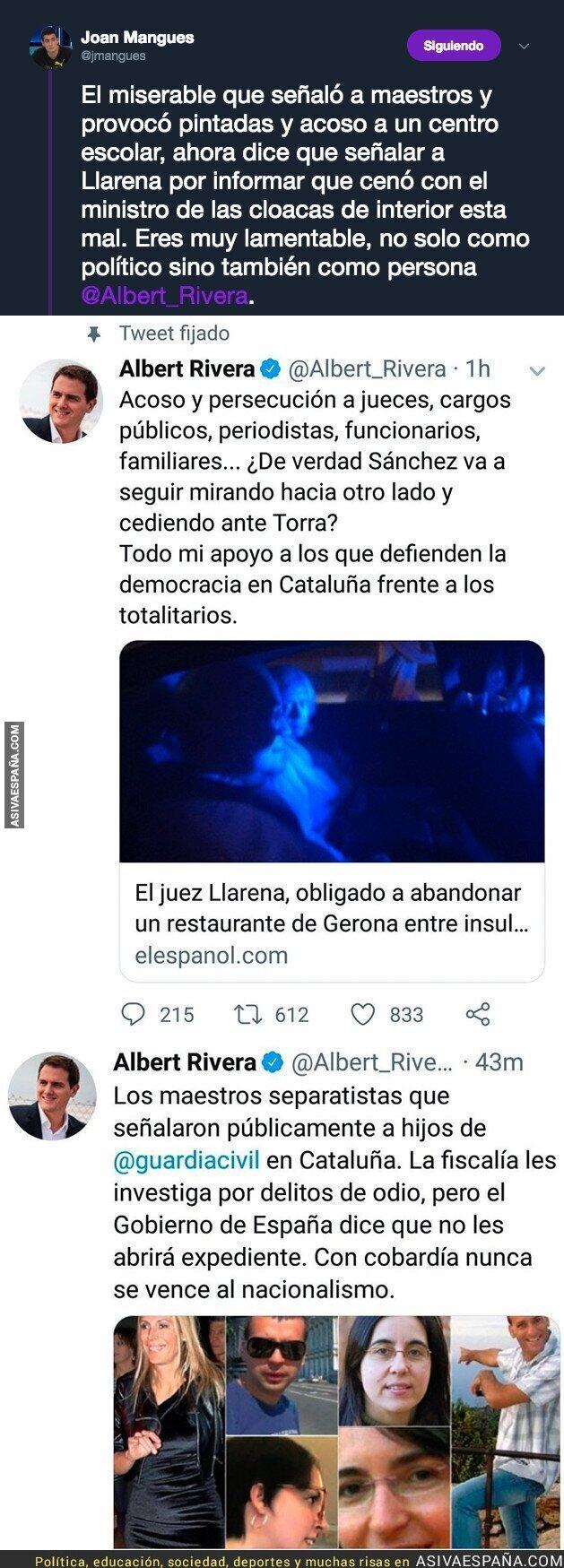 90238 - Albert Rivera y su doble rasero a la hora de señalar cargos públicos