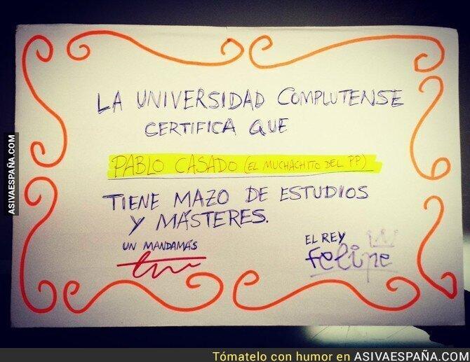 90312 - El certificado del máster de Pablo Casado