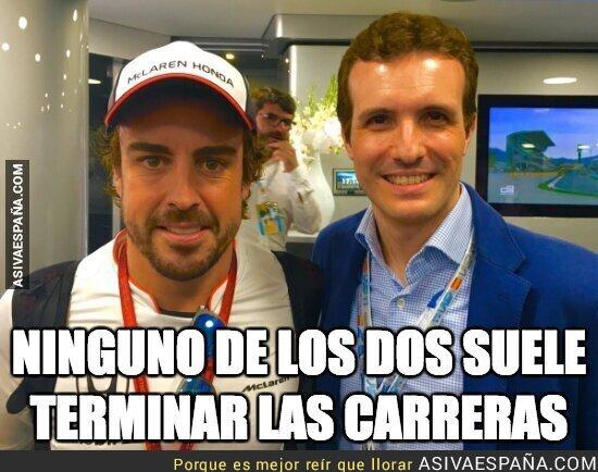 90346 - Fernando Alonso y Pablo Casado unidos por algo en común
