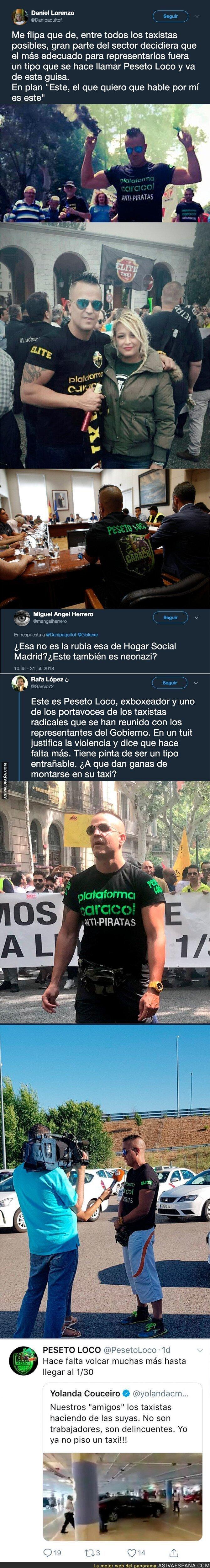 90356 - Este es 'Peseto Loco' uno de los polémicos representantes de los taxistas y sus peligrosas compañías