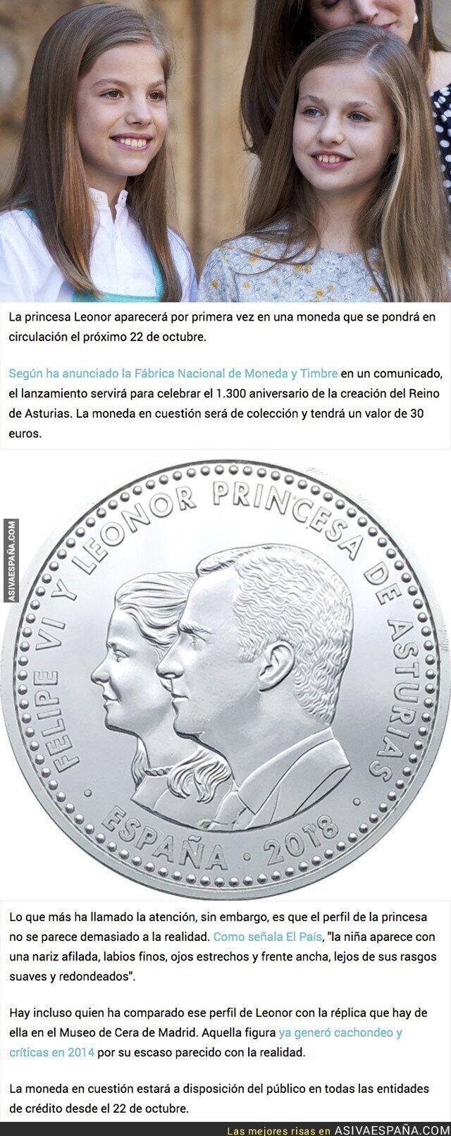 90536 - Gran polémica por como se ve Leonor en la moneda que se pondrá en circulación el 22 de octubre