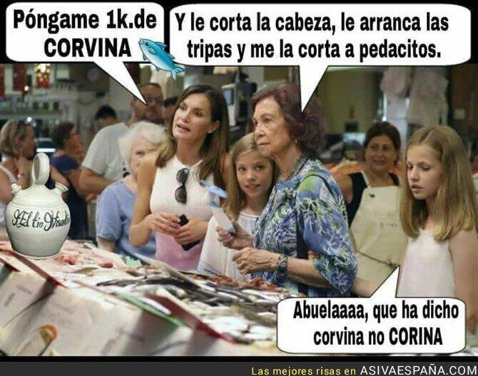 90556 - La Reina Sofía no se explicó bien en la pescadería