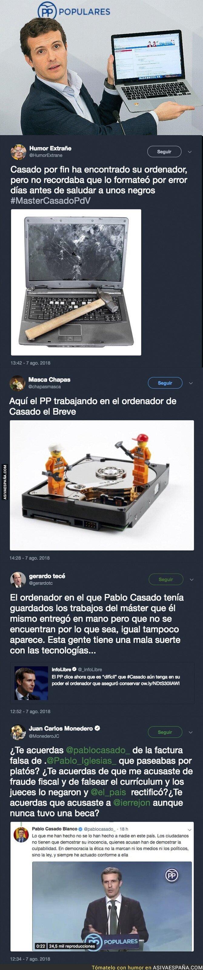 90770 - Lío con el portátil de Pablo Casado