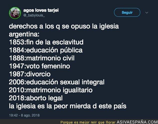 90889 - La iglesia manda en Argentina