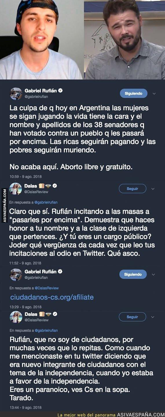 90943 - La madre de todas las peleas llega a Twitter con el enfrentamiento entre DalasReview y Gabriel Rufián