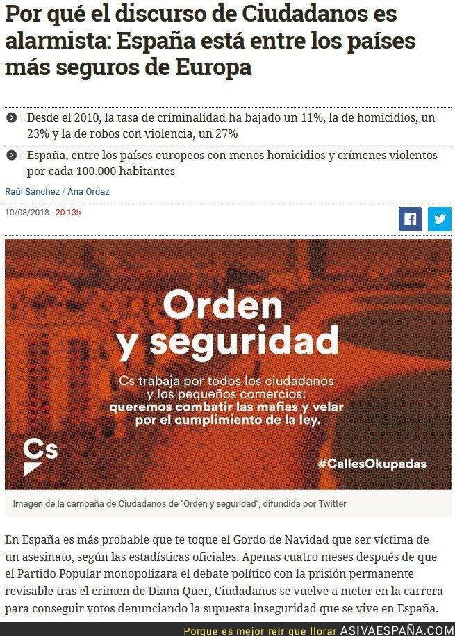 90984 - Ciudadanos manipula la realidad para crear odio y romper familias y España y lo que haga falta para conseguir votos