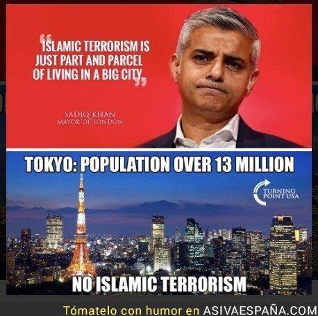 91169 - El alcalde musulmán de Londres quedando retratado